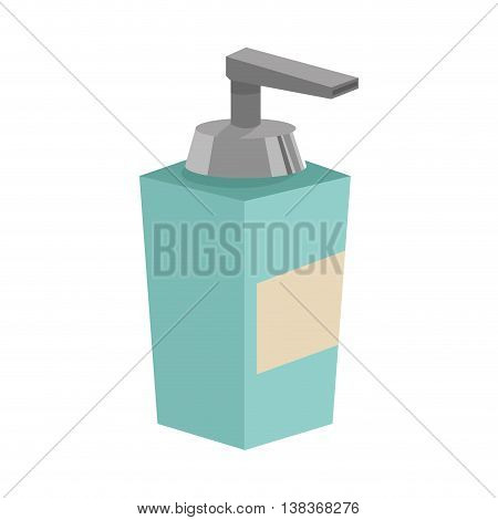 flat design soap dispenser icon vector illustration