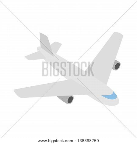 Plane icon in isometric 3d style isolated on white background. Air transport symbol