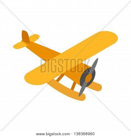 Orange plane icon isolated on white background. Air transport symbol
