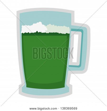 flat design green beer icon vector illustration