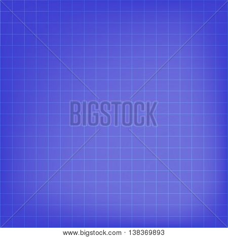 Blue gridded background. Vector. Paper. Texture. Abstract.