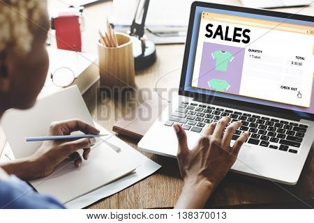 Sales Commerce Income Profit Margin Retail Sell Concept