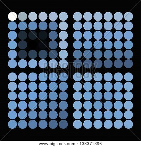 Set Of Color Circles With Blue Shades. Vector Illustration