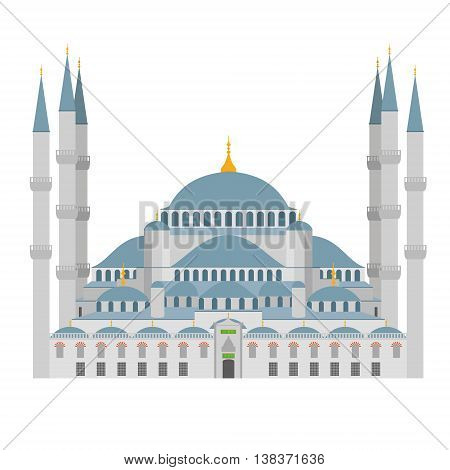 Landmarks and monuments: Blue Mosque vector illustration. Istanbul (Turkey)