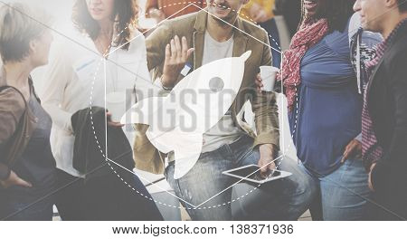 Launch Innovation Creative Development Graphic Concept