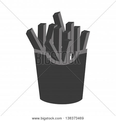 Delicious fast food icon in black and white colors, vector illustration design.