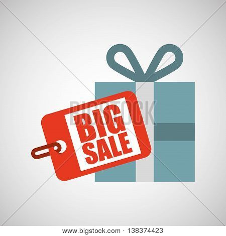 big sale offer discount commerce isolated, vector illustration eps10