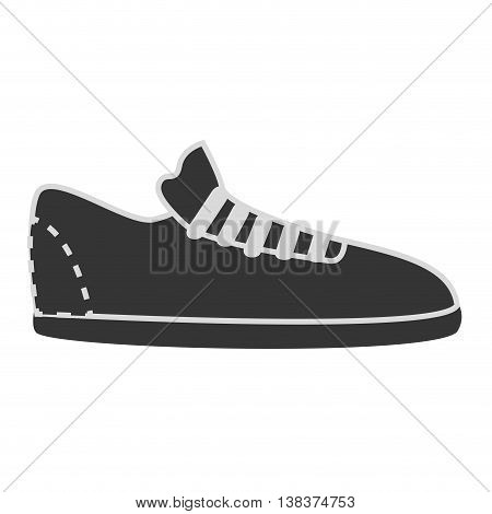 Footwear icon in black and white colors, vector illustration graphic.