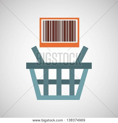 basket buy commerce buy business isolated, vector illustration eps10