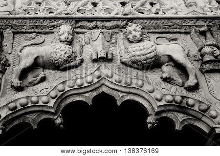 Emboss of palace
