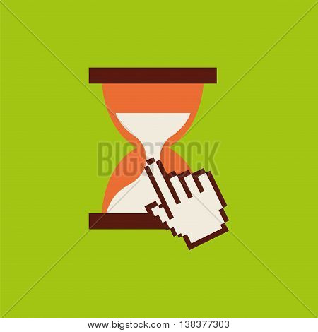 hourglass pointer mouse time isolated, vector illustration eps10
