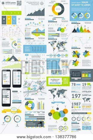 Flat Elements of Infographics   Vector EPS 10 file. Transparency used.
