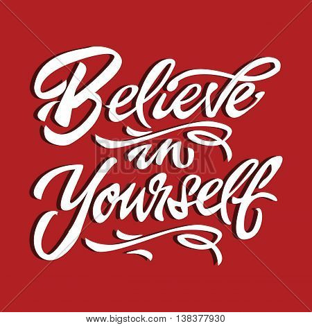believe in yourself quote motivational poster typography card vector