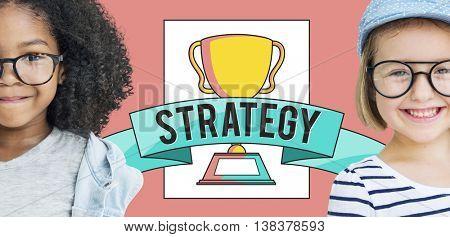 Strategy Award Children Cheerful Concept