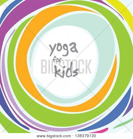 Yoga for kids - background with copy space