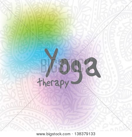 Yoga - background with copy space