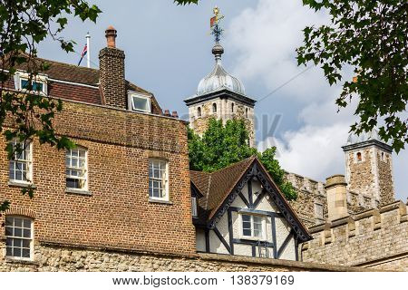 Detail Of The Tower Of London In London, Uk