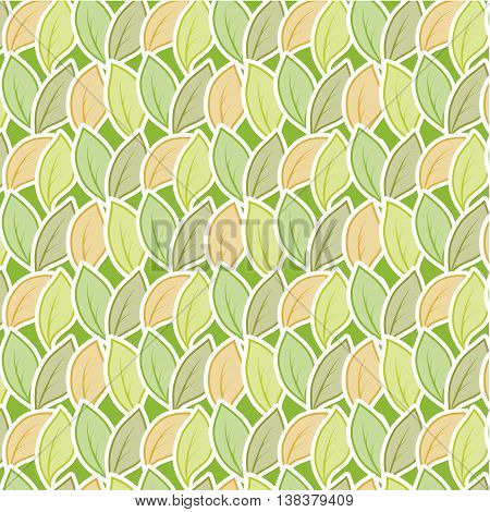 Seamless stylized foliage pattern. Vector Illustration background for your design.