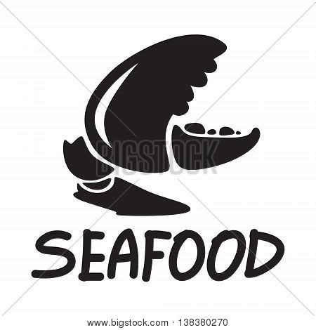 clip art claw of crab on white background, EPS 10