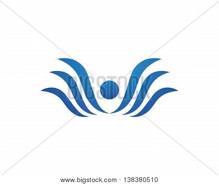 Fun people Health Life icon Logo template