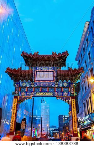 Chinatown In London, Uk, At Night