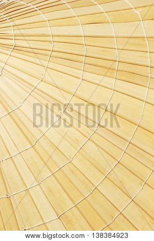Close Up of Straw Hat Surface Pattern and Texture Background