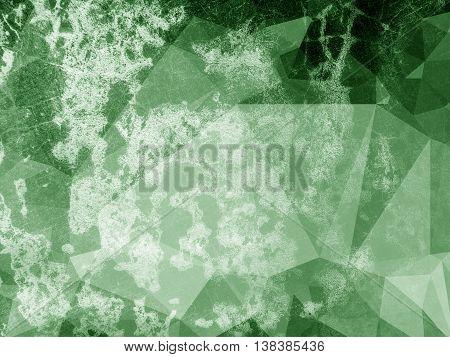 art grunge green polygon ragged abstract pattern illustration background