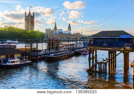 View Of The River Thames In London, Uk