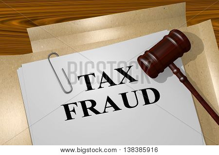 Tax Fraud Legal Concept