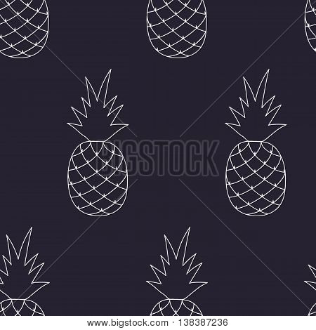 Vector Seamless Pattern with Pineapples.Vector flat foe print