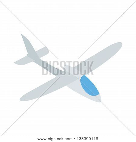 Grey plane icon in isometric 3d style isolated on white background. Air transport symbol