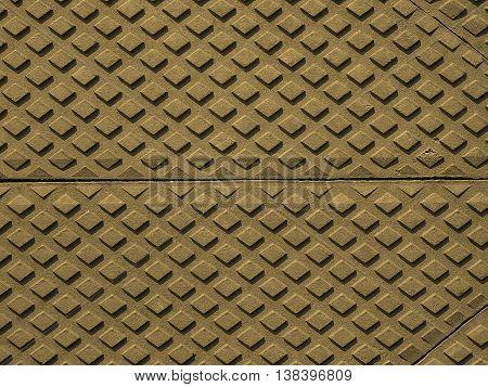 Steel Diamond Plate Background Sepia