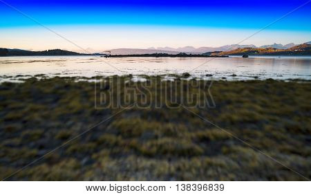 Horizontal Vivid Wide Norway Landscape Toy Abstraction Backgroun