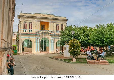 BARACOA, CUBA - OCTOBER 1, 2007: Old colonial building in the historical center of Baracoa, Cuba