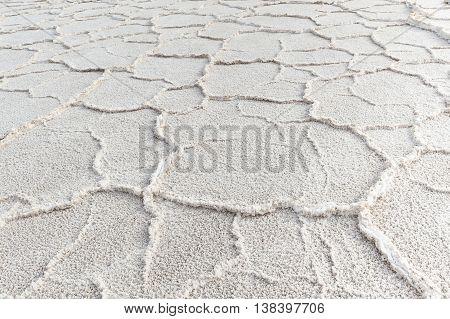 pattern of salt in Death valley USA