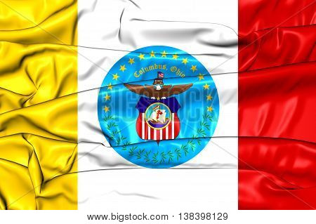 Flag Of Columbus (ohio), Usa. 3D Illustration.