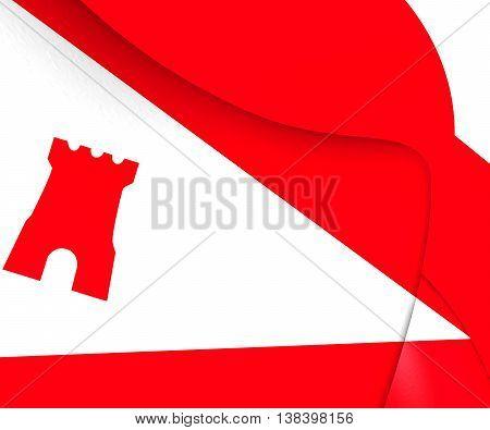 Flag Of Etten-leur City, Netherlands. 3D Illustration.
