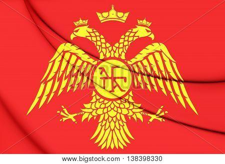 Byzantine Eagle, Flag Of Palaiologos Dynasty. 3D Illustration.