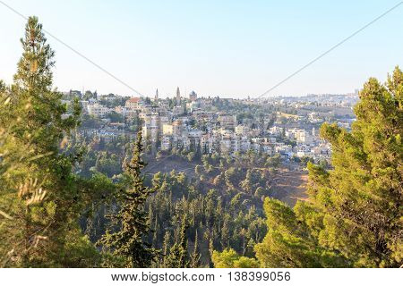 View On Dormitsion In Jerusalem