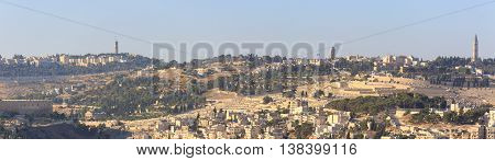 Large Panorama On Mount Of Olives