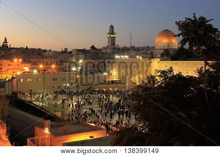 Jerusalem, Israel - July 01, 2016: View On The Western Wall