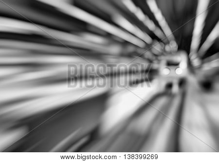 Horizontal black and white abstract motion train station transportation background backdrop