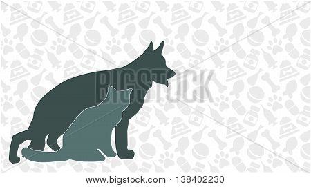 vector card vet pet store kennel animal shelter