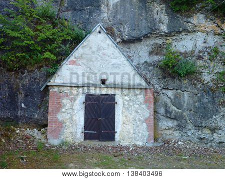 Old House Built Into The Cliff