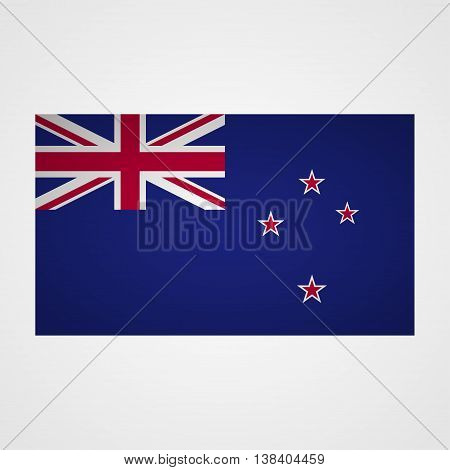 New Zealand flag on a gray background. Vector illustration