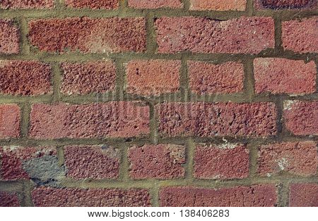 brickwork, backgrounds and textures concept - red brick wall