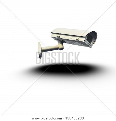 the surveillance camera isolated on white background