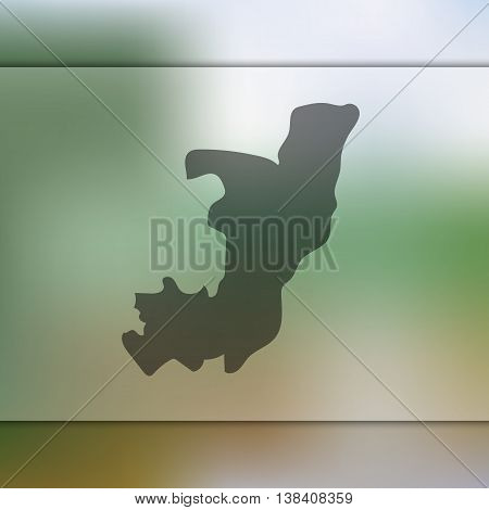 Congo map on blurred background. Blurred background with silhouette of Congo. Congo. Congo map.