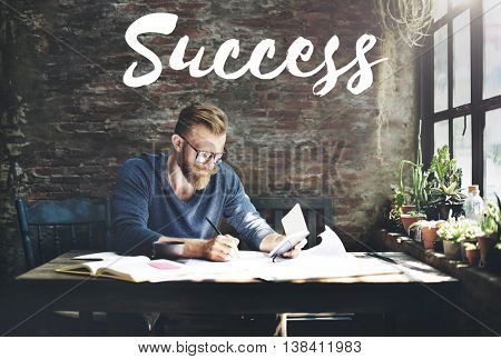 Success Mission motivation Victory Goal Growth Concept