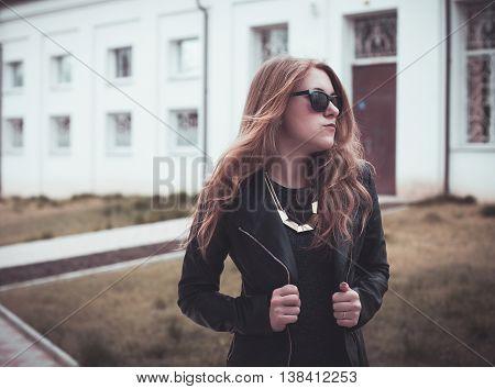 Girl In Black Glasses